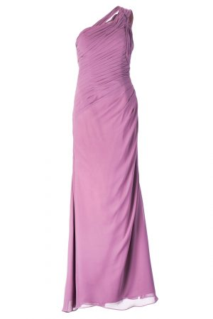 one-shoulder bridesmaid dress